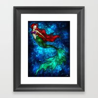 The Mermaids Song Framed Art Print