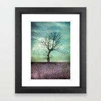 ATMOSPHERIC TREE I Framed Art Print