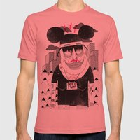 Michael Mouse Mens Fitted Tee Pomegranate SMALL