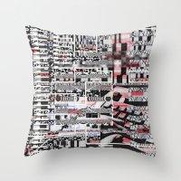 Click N' Fail (P/D3 Glitch Collage Studies) Throw Pillow