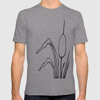 Paper-cut Cattail Mens Fitted Tee Athletic Grey SMALL