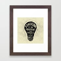 Education: Darkness To L… Framed Art Print