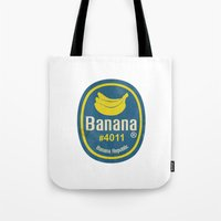 Banana Sticker On White Tote Bag