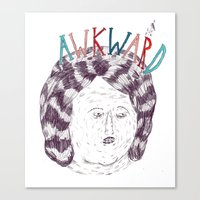 Awkward Canvas Print