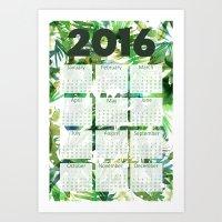 2016 Calendar Vibe of the Jungle Green Art Print