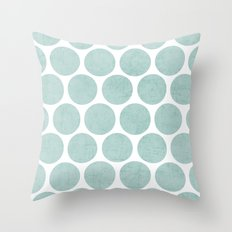 Robins Egg Blue Polka Do… Throw Pillow