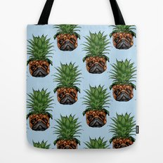 Pineapple Pug  Tote Bag