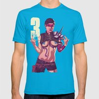 80/90s - Tye Mens Fitted Tee Teal SMALL