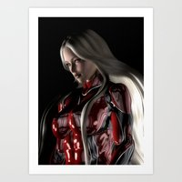 Sci-Fi Suit Portrait Art Print