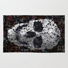 Doodle Skull Rug