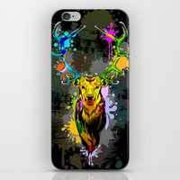 Deer PopArt Dripping Paint iPhone & iPod Skin