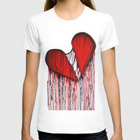 Bleeding Heart Womens Fitted Tee White SMALL