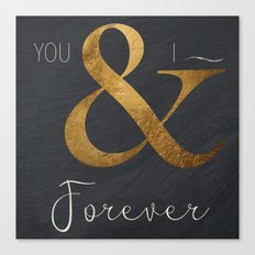 Typography Forever  Canvas Print