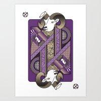 Ram Card. Art Print