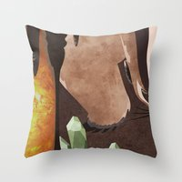 Original Bending Masters Series: Badgermoles Throw Pillow
