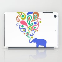 Multi-Colored Paisley Elephant Pattern Design iPad Case