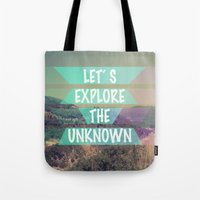 Tote Bag featuring EXPLORE by AA Morgenstern