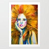Leo Zodiac Art Print