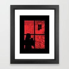 A Strange Encounter Framed Art Print