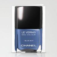 Chanel Nail Polish Blue … Stationery Cards