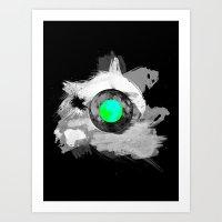 Skull Moonfish Jawn Art Print