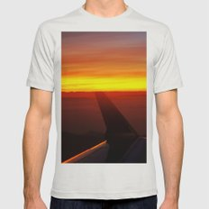 Sunset at 30,000 Feet Mens Fitted Tee Silver SMALL
