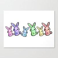Pastel Bunnies Canvas Print