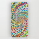 Colour Mix Spiral iPhone & iPod Skin