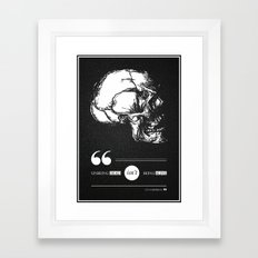 Dead or alive Framed Art Print