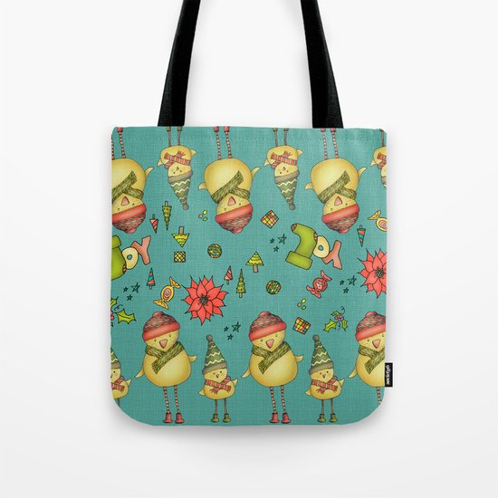 Two Chicks Pattern Tote Bag