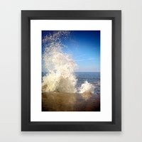 Crashing Wave Framed Art Print