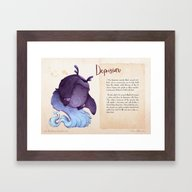 Real Monsters- Depressio… Framed Art Print