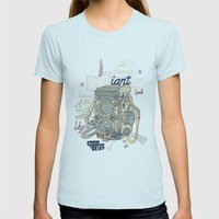 light=life Womens Fitted Tee Light Blue SMALL