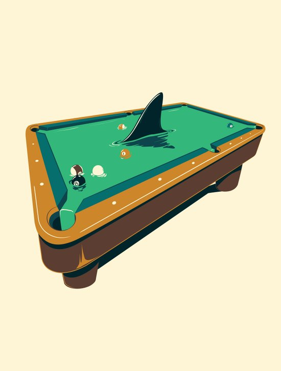 Pool shark Canvas Print
