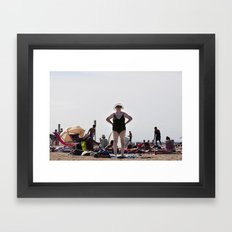 La Plage Framed Art Print