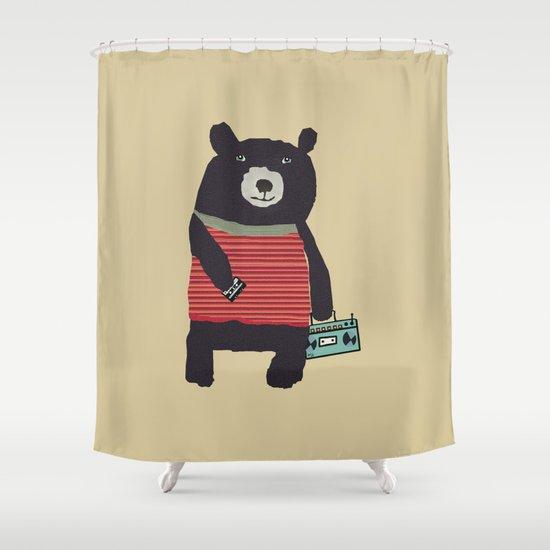 Boomer bear Shower Curtain