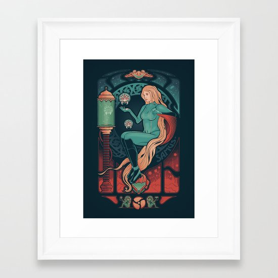 Aran Nouveau Framed Art Print