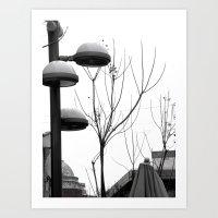 Tel Aviv In Monochrom #2 Art Print