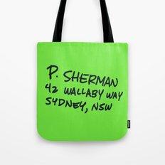 P. Sherman, 42 Wallaby Way Tote Bag