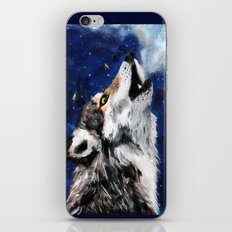 Wolf's breath iPhone & iPod Skin