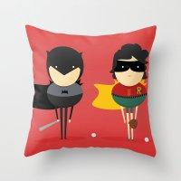 Heroes & super friends! Throw Pillow