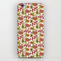 Red sweet flowers iPhone & iPod Skin