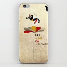 Like a bee on a flower iPhone & iPod Skin