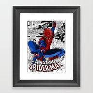 Spider-Man Comic Framed Art Print