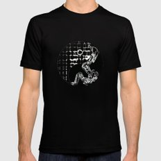 yin and yang Black SMALL Mens Fitted Tee