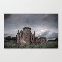 Faded Memories: Caerlaverock Castle Canvas Print