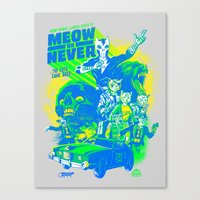 New Wave Laser Cats 2: 9… Canvas Print