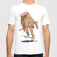 FREE HAND Mens Fitted Tee White SMALL