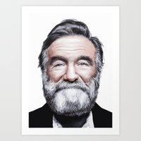 A tribute to Robin Williams Art Print