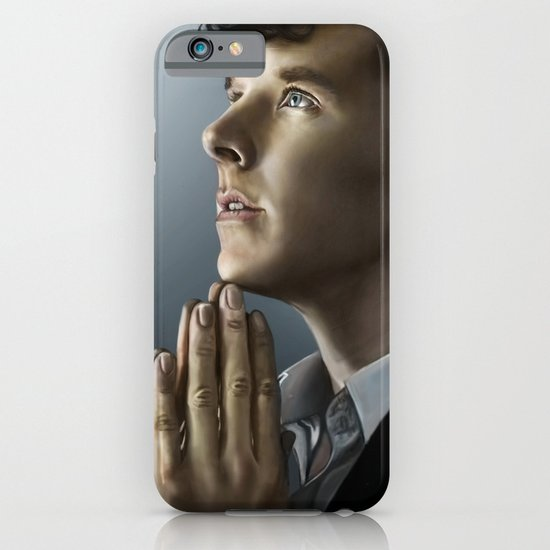 Sherlock in thought iPhone & iPod Case